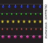 collection of garlands. vector... | Shutterstock .eps vector #334998782