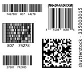 vector product bar code 2d... | Shutterstock .eps vector #335003015