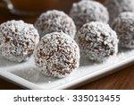 Homemade Coconut Rum Balls On...