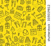 seamless party  yellow... | Shutterstock .eps vector #335019812