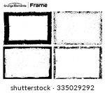 grunge frame texture set  ... | Shutterstock .eps vector #335029292