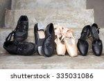 closeup of a pair of jazz shoes ...   Shutterstock . vector #335031086