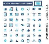 interactive marketing  market... | Shutterstock .eps vector #335034116