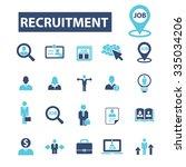 recruitment  headhunter  job ... | Shutterstock .eps vector #335034206