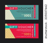 gift voucher template with... | Shutterstock .eps vector #335037662