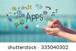 apps concept with person... | Shutterstock . vector #335040302