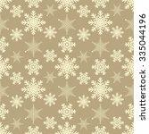 snowflakes modern seamless... | Shutterstock .eps vector #335044196