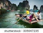 ha long bay  vietnam   april 14 ... | Shutterstock . vector #335047235