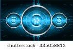 dark blue color light abstract...   Shutterstock .eps vector #335058812