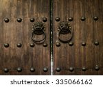 antique knocker wood japanese... | Shutterstock . vector #335066162