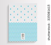 abstract minimal flyer design... | Shutterstock .eps vector #335081615