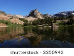 The popular Sundial Peak and Lake Blanche, Wasatch Front, Utah - stock photo