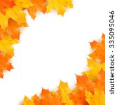 autumn vector background with... | Shutterstock .eps vector #335095046