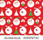 christmas seamless texture | Shutterstock .eps vector #335096732