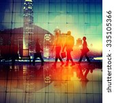 business people commuter... | Shutterstock . vector #335105366