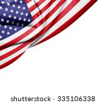 america   flag of silk with... | Shutterstock . vector #335106338