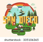 san diego | Shutterstock .eps vector #335106365