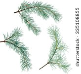 illustration with pine branches ...   Shutterstock .eps vector #335108855