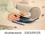 accounting concept.analyzing... | Shutterstock . vector #335109155