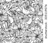 seamless floral pattern.... | Shutterstock .eps vector #335119076