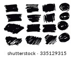 hand drawn abstract black paint ... | Shutterstock .eps vector #335129315