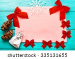 christmas card with copy space... | Shutterstock . vector #335131655
