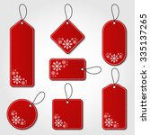 red christmas tag collection... | Shutterstock .eps vector #335137265