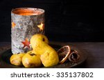 swedish saffron buns  richly... | Shutterstock . vector #335137802