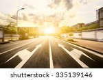 empty city road in the morning | Shutterstock . vector #335139146
