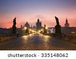 Charles Bridge At The Sunrise ...