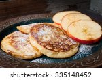home made apple and cinnamon... | Shutterstock . vector #335148452