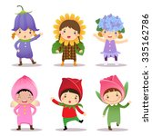 illustration of cute kids... | Shutterstock .eps vector #335162786