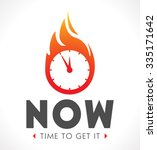 logo   the time is now | Shutterstock .eps vector #335171642