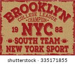 brooklyn   new york city... | Shutterstock .eps vector #335171855
