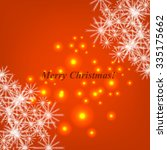 christmas glowing lights. merry ...   Shutterstock .eps vector #335175662