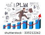 businessman running with... | Shutterstock . vector #335212262