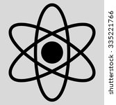 atom glyph icon. style is flat... | Shutterstock . vector #335221766