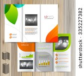 white creative brochure... | Shutterstock .eps vector #335227382