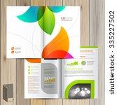 white creative brochure... | Shutterstock .eps vector #335227502