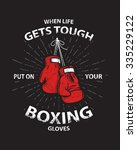 grunge boxing motivation poster ... | Shutterstock .eps vector #335229122