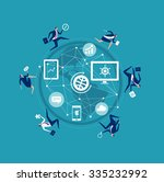 business world. concept... | Shutterstock .eps vector #335232992