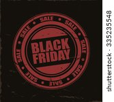 black friday red stamp on black ... | Shutterstock .eps vector #335235548