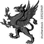heraldic gargoyle | Shutterstock .eps vector #33523969