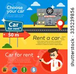 rent a car flat design web... | Shutterstock .eps vector #335239856