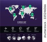 world map vector | Shutterstock .eps vector #335246066