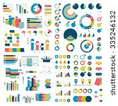 mega collection of charts ... | Shutterstock .eps vector #335246132