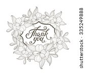 white floral wreath vector... | Shutterstock .eps vector #335249888