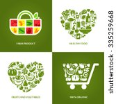 set of concept icons for farm... | Shutterstock .eps vector #335259668