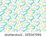 abstract green heats with... | Shutterstock .eps vector #335267096