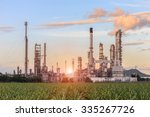oil refinery factory in the...   Shutterstock . vector #335267726